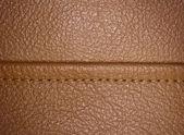 Horizontal stitched leather background. — Stock Photo