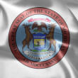 The emblem of the State of Michigan — Stock Photo