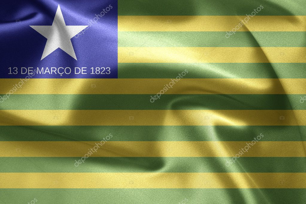 Flag of Brazil (Piaui) — Stock Photo #7612814