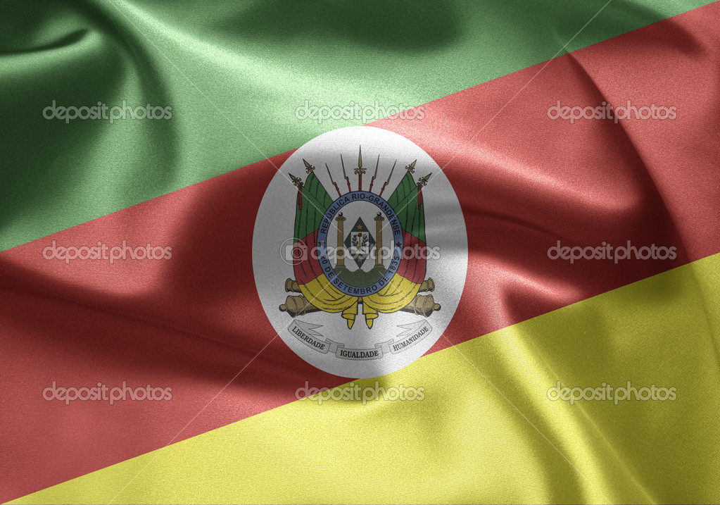 Flag of Brazil (Rio Grande do Sul)  Stock Photo #7612843