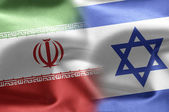 Israeli and Iranian flags. — Stock Photo