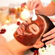 Stock Photo: Care for face and body spa