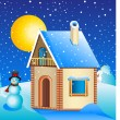 Royalty-Free Stock Vector Image: Country house winter