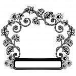 Flowers frame — Stock Vector