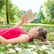 Young woman with book — Stock Photo #6835214