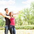 Cheerful couple enjoying in love — Stock Photo #6836275