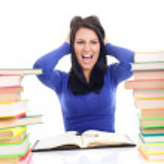Crazy student girl — Stock Photo