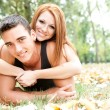 Playful young couple — Stock Photo