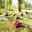 Fitness class, outdoor — Stock Photo #6836917