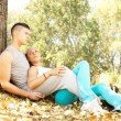 Lovers relaxing — Stock Photo