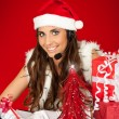 Santa's secretary — Stock Photo