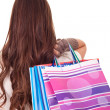 Womwith shopping bag — Foto de stock #6916380