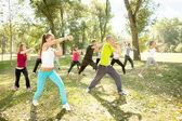 Kickboxing, outdoor — Stock Photo