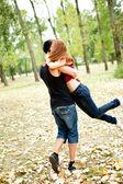 Couple having fun — Stock Photo
