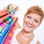 Happy shopping girl — Stock Photo #6989418