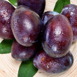 Stock Photo: Freshness plums