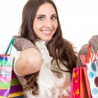 Smiling shopping girl — Stock Photo #6994954