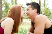 Romantyczne pocałunki — Zdjęcie stockowe