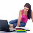 Pretty girl learning — Stock Photo