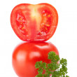 Stock Photo: Isolate tomatoes