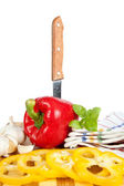 Salat aus paprika — Stockfoto
