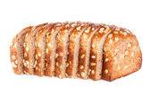 全谷物褐色面包 — 图库照片