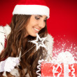 Santa woman with magic wand — Stock Photo #7363392