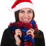 圣诞派对的女商人 — 图库照片
