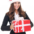 Royalty-Free Stock Photo: Businesswoman with christmas gift