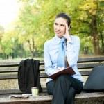 Businesswoman with headache — Stock Photo #7363547