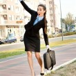 Funny businesswoman - Stock Photo