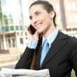 Smiling businesswoman on the phone — Stock Photo #7363578