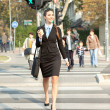 Woman going to work, city business — Stock Photo #7363583