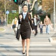 Woman going to work, city business - Stock Photo