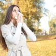 Woman have flu — Stockfoto