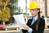 Young female engineer — Stock Photo