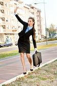 おかしい女性実業家 — ストック写真