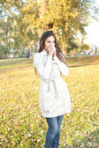 Woman with allergy or cold — Stock Photo