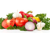 Freshness vegetables prepped — Stock Photo