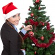 Royalty-Free Stock Photo: Woman with a christmas tree