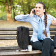 Angry businesswoman on phone — Stock Photo #7479027