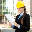 Young architect, outdoor — Stock Photo