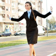 Businesswoman having fun — Stock Photo