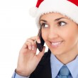 Santa businesswoman — Stock Photo #7479722