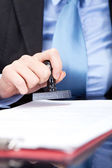 Business stamping — Stock Photo