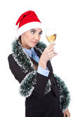 Businesswoman celebrating new year — Stock Photo
