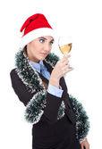 Businesswoman celebrating new year — Stock fotografie