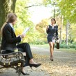 Businesspeople in park — Stock Photo #7585253