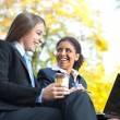 Two businesswomen on coffee break — Stock Photo