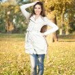 Outdoor Portrait of Beautiful Woman in Park - Photo